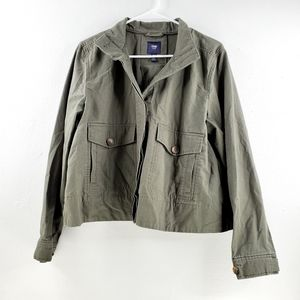 GAP Button Up Military Green Utility Jacket